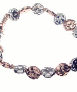 Bracelet, Stretch, Discs, Silver