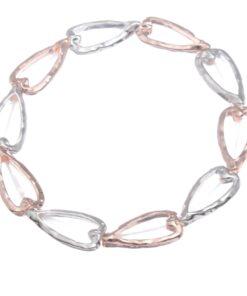 Linked heart stretch bracelet
