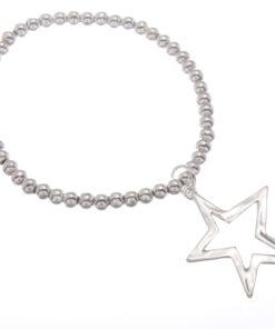 Stretch bead bracelet with drop star